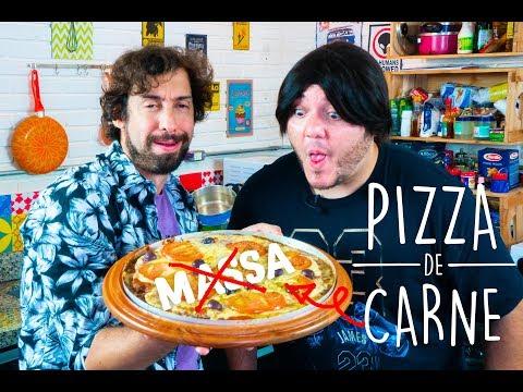 como fazer PIZZA DE CARNE com ZACA