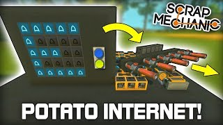 Sending Messages with Potato Internet! (Scrap Mechanic #311)