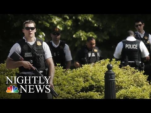 Gunman Shot by Secret Service Near White House   NBC Nightly News