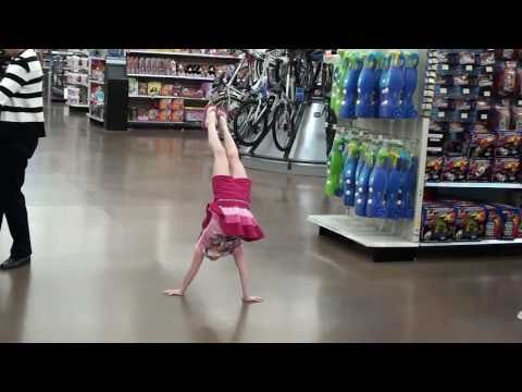Gymnastics Handstands @ Wallyworld