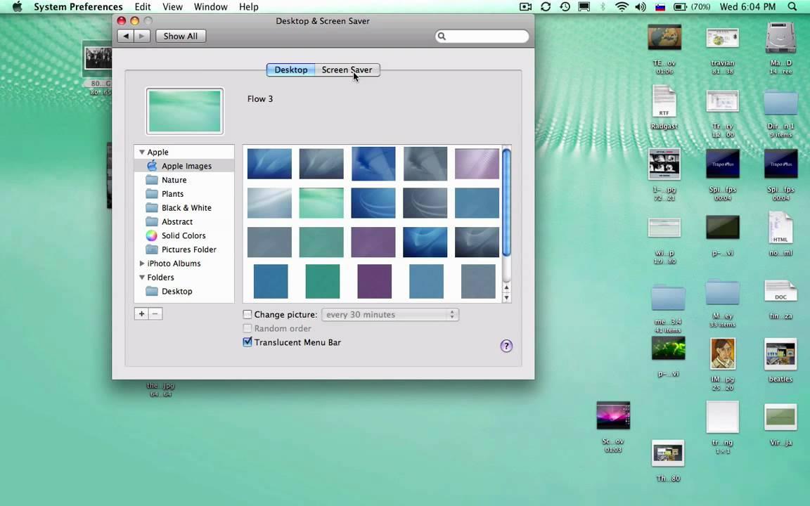 screen saver mac how to change
