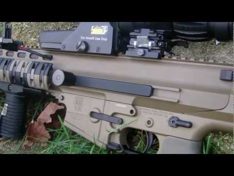 Airsoft Echo 1 Robinson Armament XCR Review!!! [HD]