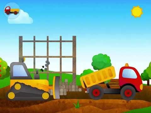 เกมส์จำลอง รถดั้ม และ รถแทรกเตอร์ เกรดดิน รถตักดิน Crane Simulator Game For Kids