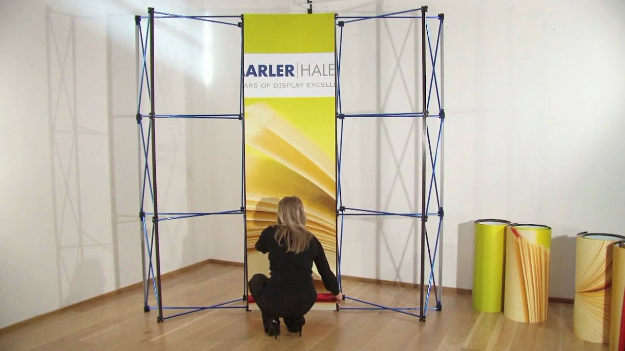 Exhibition Stand Build Up : How to build your veloce magnetic pop up display stand