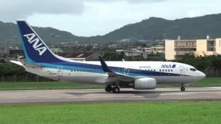 石垣空港 Air Nippon (ANK/ANA) Boeing 737-700 JA11AN 離陸 2011.10.21