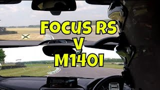 BMW M140i v Ford Focus RS - LAP TIME HEAD-TO-HEAD