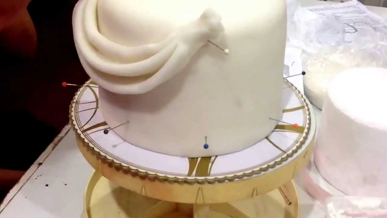 Wedding Cakes With Fondant Swags