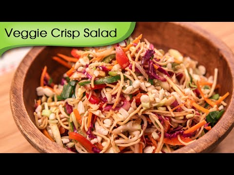 Veggie Crisp Salad - Quick & Healthy Vegetarian Salad Recipe By Ruchi Bharani
