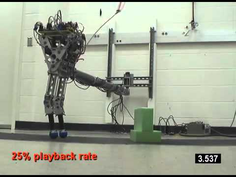 KURMET Bipedal Robot Can Hop Over Obstacles