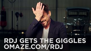 Robert Downey Jr. Battles a Case of the Giggles // Omaze