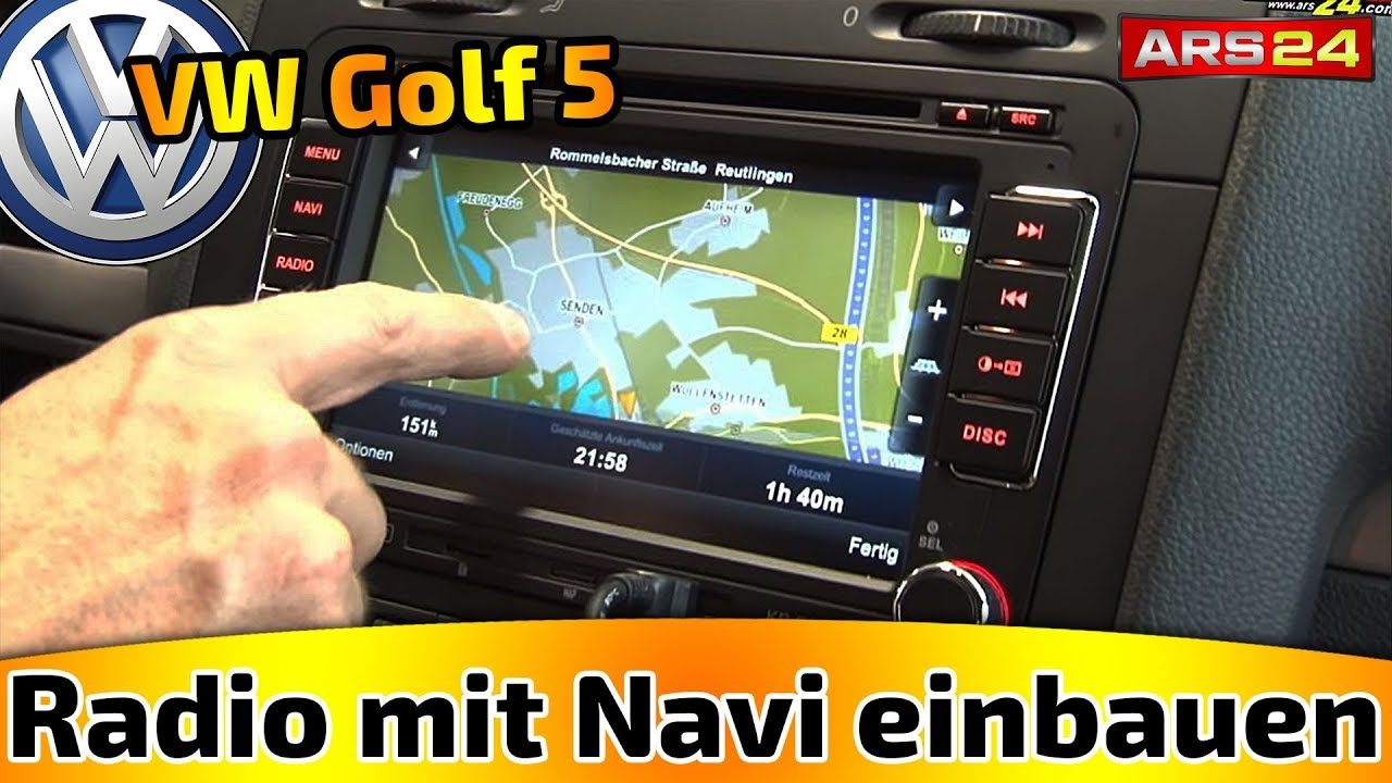 kr mer g6 2din multimedia naviceiver in golf 5 ars24 com car hifi einbaututorial youtube. Black Bedroom Furniture Sets. Home Design Ideas