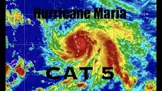 BREAKING: Hurricane Maria a CAT 5 / 160mph - Military Evacuates ahead of Massive Storm