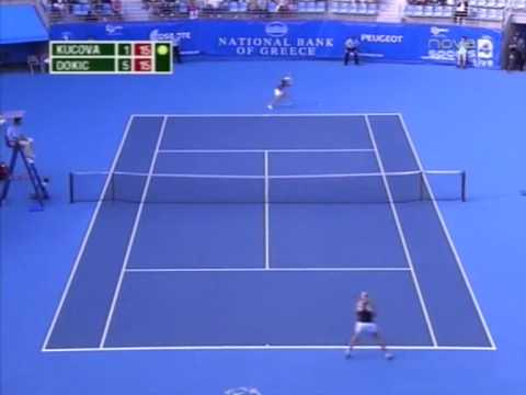The Best of Jelena Dokic (vs Kucova) Athens 100k SF 2009!