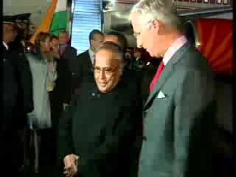 Prez Pranab Mukherjee reaches Belgium; becomes first Indian president to visit