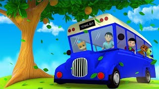 The Blue Wheels On The Bus | Junior Squad Cartoons |  Nursery Rhymes Videos For Toddlers by Kids Tv