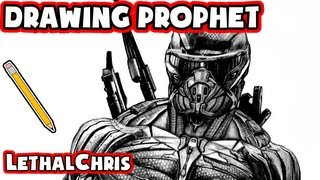 Drawing Prophet - Crysis 3 Fan Art Time Lapse