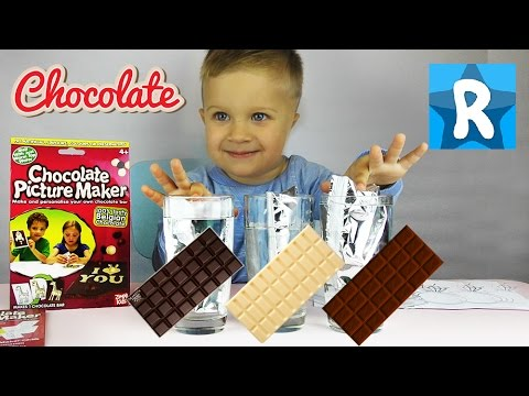 ★ Картина Шоколадка-Сюрприз Своими Руками Chocolate Picture Maker personalised chocolate bar DIY set