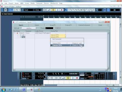 how to connect samson  usb microphone in cubase 4 or 5 (tutorial)