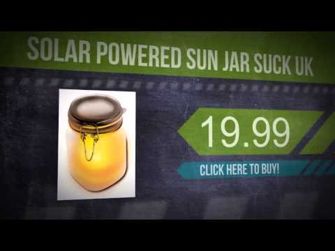 Solar Powered Sun Jar Suck Uk