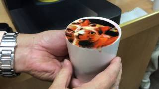 Smart coffee machine prints beloved pet image onto coffee