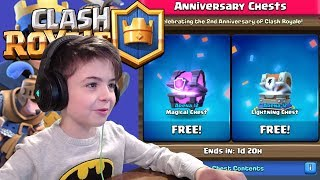 ANNIVERSARY CHEST OPENING + 1V1 BATTLE - Clash Royale