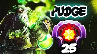 FIRST LEVEL 25 PUDGE Divine Rank - Better than Dendi, Qupe, Levkan and Zipfile? EPIC Dota 2 Gameplay