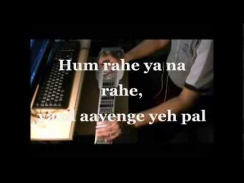 Yaad Aayenge ye pal INSTRUMENTAL Steel Guitar Cover with Lyrics...