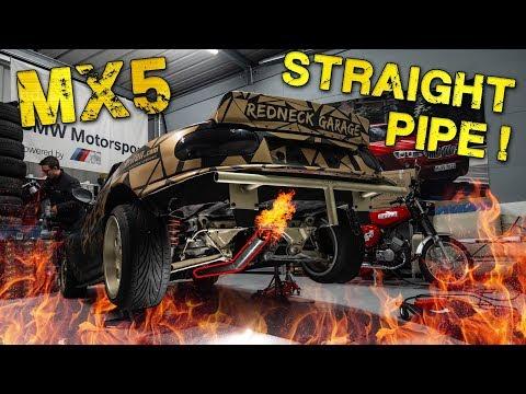MX5 Auspuff selber bauen | Straight Pipe | Flyoff Garage