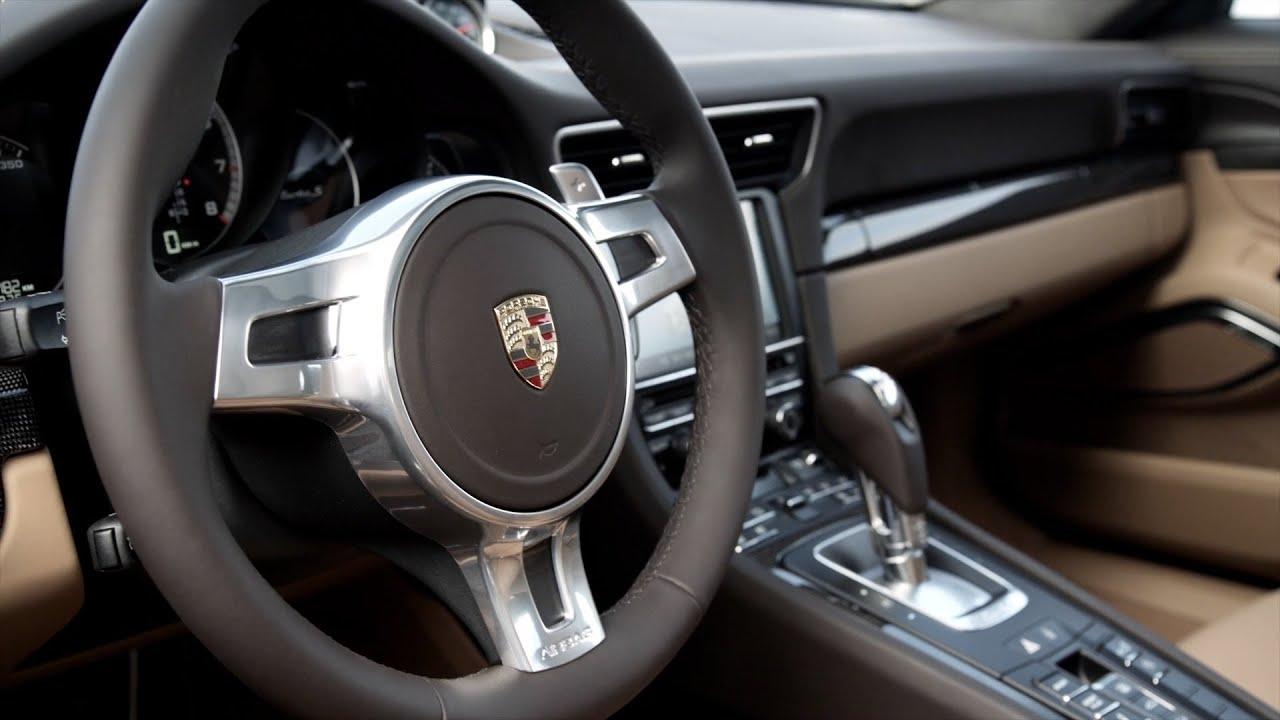 2014 porsche 911 turbo s interior youtube for Porsche 911 interieur