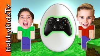Giant VIDEO GAME Egg Surprises by HobbyKidsTV