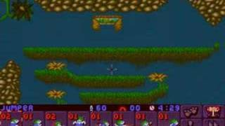 Lemmings 2 (PC) outdoor lvl 10 (2 solutions)