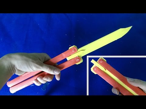 Как сделать нож из бумаги легко