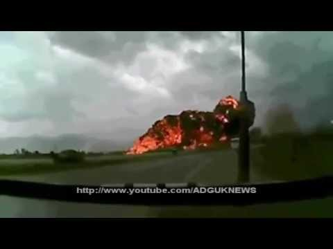 Boeing 747 Crash At Bagram Airfield Caught On Tape 2013
