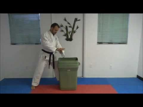 Karate Bottle Break - Instructor Christian Jolicoeur - Atarashi Chito Ryu Karate Image 1