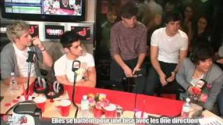 Cauet sur NRJ - GIRLS FIGHTING FOR A KISS FROM ONE DIRECTION (14th February)