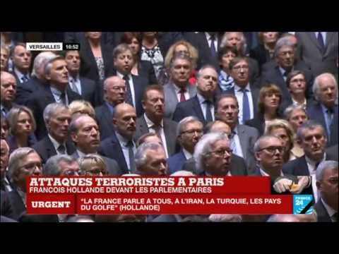 La Marseillaise entonnée suite au discours du président François Hollande