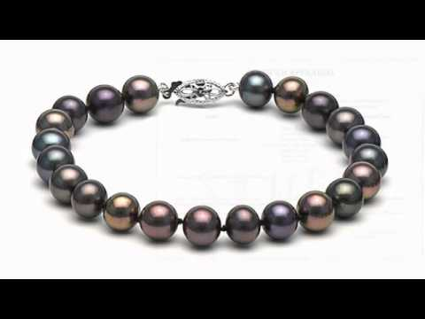 Black Pearl Bracelet Freshwater Pearls Musesum Way Pearls