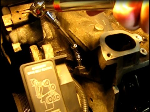 3.4L GM lower manifold gasket replacement part 5: Installing gaskets, pushrods and lower manifold