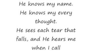 He Knows My Name - Paul Baloche and Praise Band [lyrics]