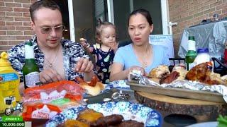 Vlog 671 ll Ăn Lễ Quốc Khánh Mỹ Cùng Bạn Bè - Chơi Lướt Sóng & Xem Bắn Pháo Bông