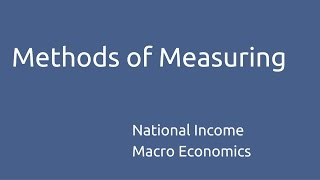 Learn Methods of Measuring NI | National Income | CA CPT | CS & CMA Foundation | Class 11 | Class 12