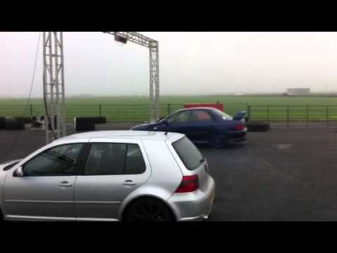 Subaru Impreza vs Volkswagon Golf at Crail