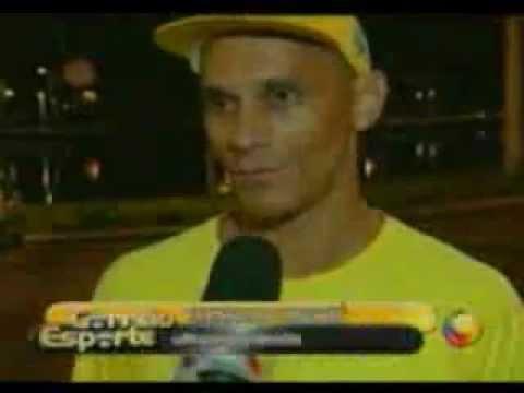Brazilian ultra runner Fernando PANGARÉ in interview of TV CORREIO in 07/08/2010 (part I).