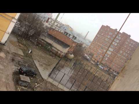 20.04.2015 Казань идёт снег и дождь