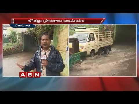 Heavy Rains lashes Vijayawada | Huge Flood Water Logging on Roads | ABN Telugu