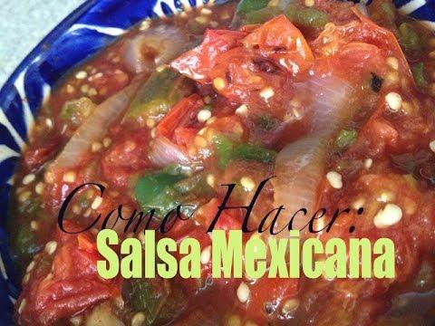 Recetas de Salsas Mexicanas Salsa Mexicana Sin Molcajete