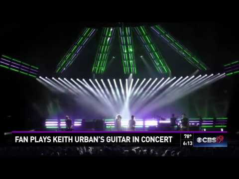 Fan Plays Keith Urban's Guitar In Concert