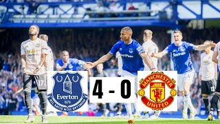 Everton 4 - 0 Manchester United // EPL Highlights // 21/04/2019 HD