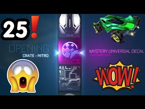 25 NITRO CRATE OPENING!!! NEW MYSTERY DECAL?!?!? MANTIS!! || ROCKET LEAGUE
