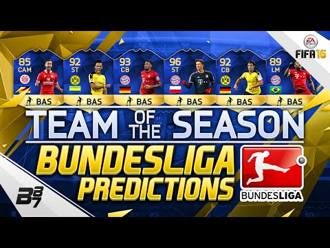 BUNDESLIGA TEAM OF THE SEASON (TOTS) Predictions! w/ TOTS AUBAMEYANG!   | FIFA 16